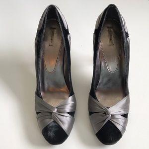 Velvet and Satin Bow Heels